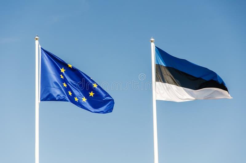 Duas bandeiras imagem de stock royalty free