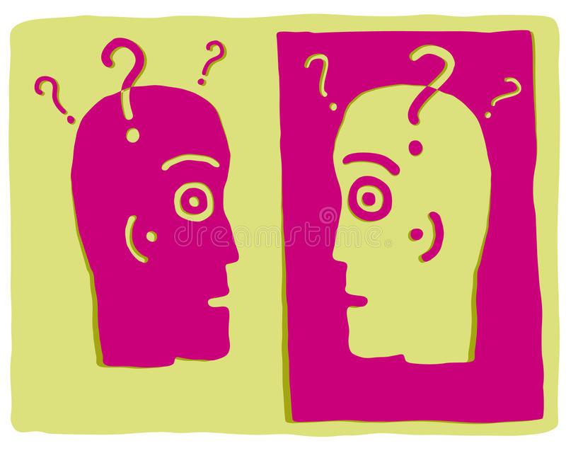 Duas cabeças ilustração do vetor