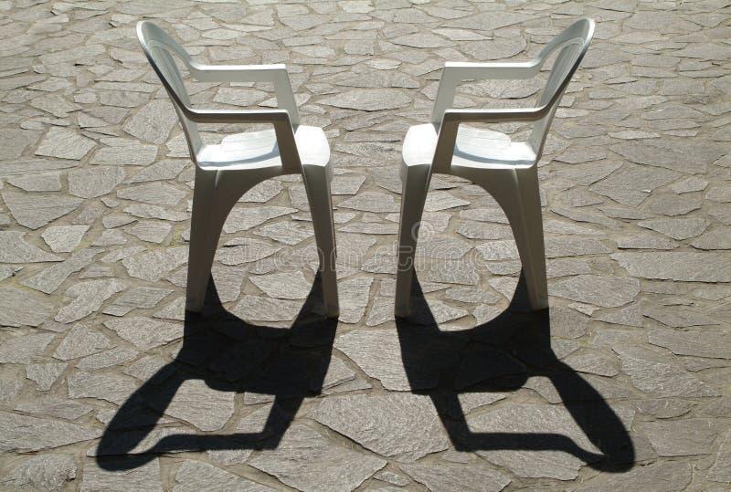 Duas cadeiras imagens de stock