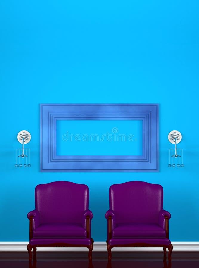 Duas cadeiras com frame vazio ilustração stock