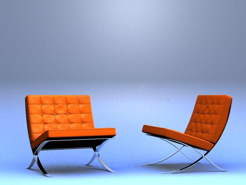 Duas cadeiras do desenhador ilustração do vetor