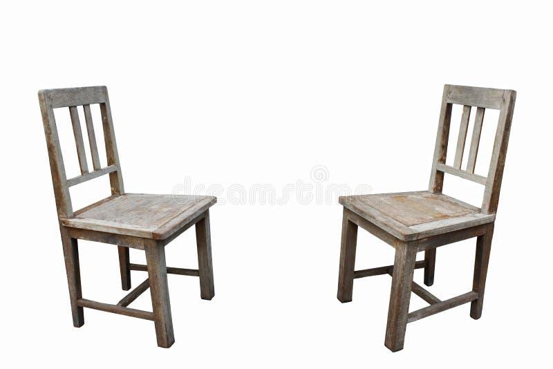 Duas cadeiras velhas fotos de stock