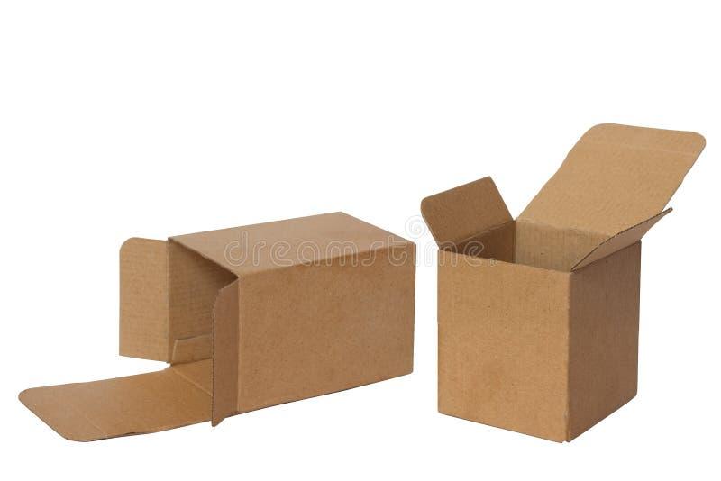 Duas caixas abertas fotos de stock royalty free