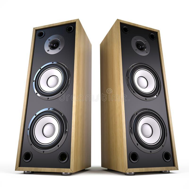 Duas caixas audio grandes dos oradores ilustração royalty free