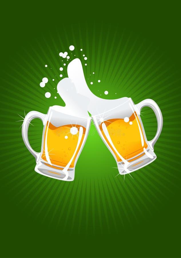 Duas canecas de cerveja ilustração do vetor