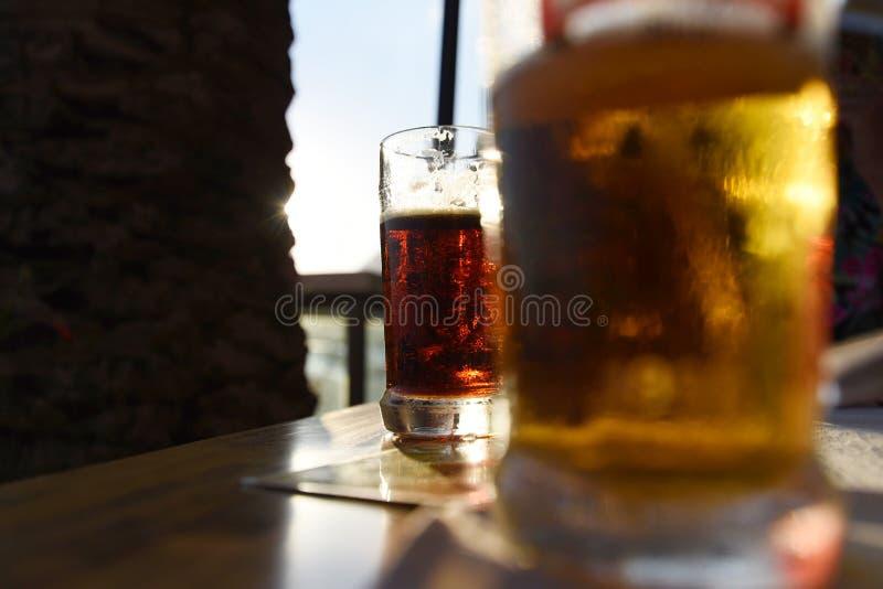 Duas cervejas imagem de stock