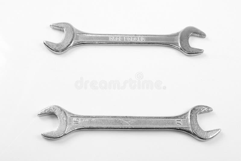 Duas chaves de fenda de prata fotografia de stock