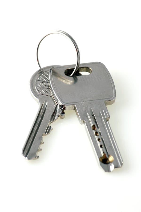 Duas chaves de prata imagem de stock royalty free