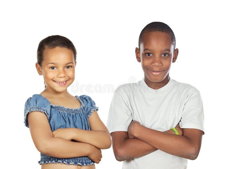 Duas crianças fotografia de stock