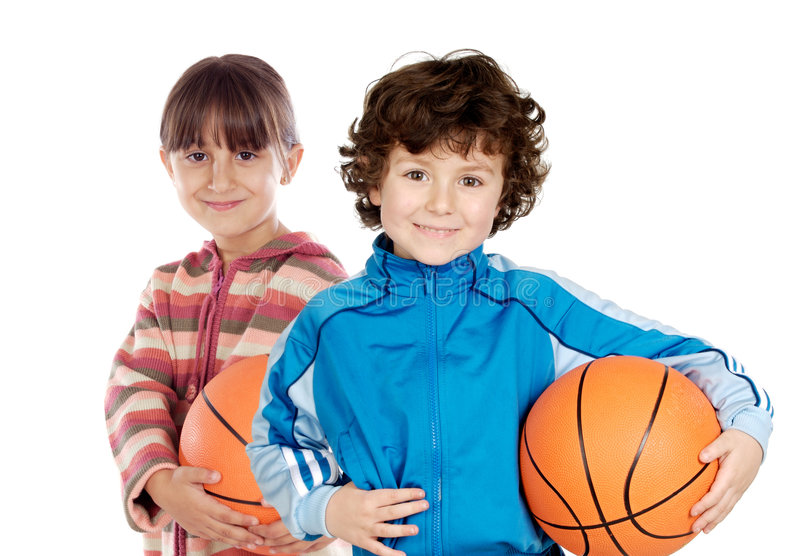 Duas crianças adoráveis foto de stock royalty free
