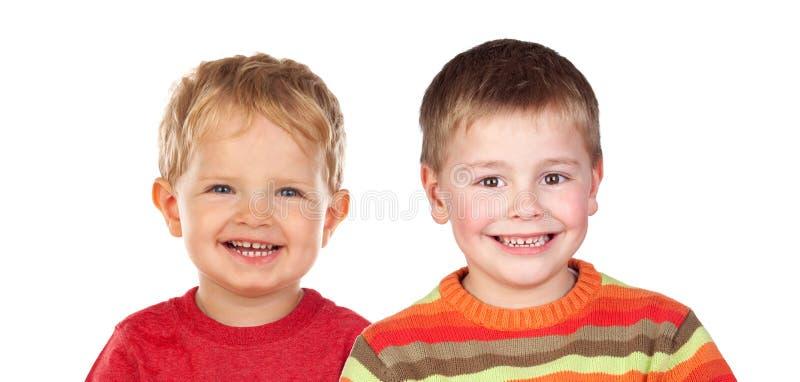 Duas crianças louras fotografia de stock royalty free