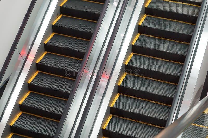 Duas escadas rolantes imagem de stock