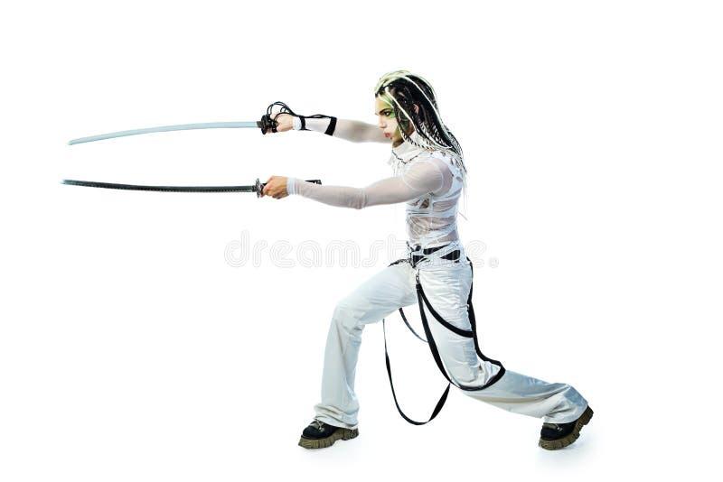 Duas espadas imagens de stock royalty free