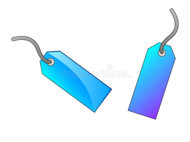 Duas etiquetas azuis ilustração stock