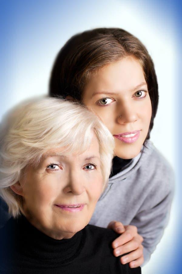 Duas gerações foto de stock royalty free