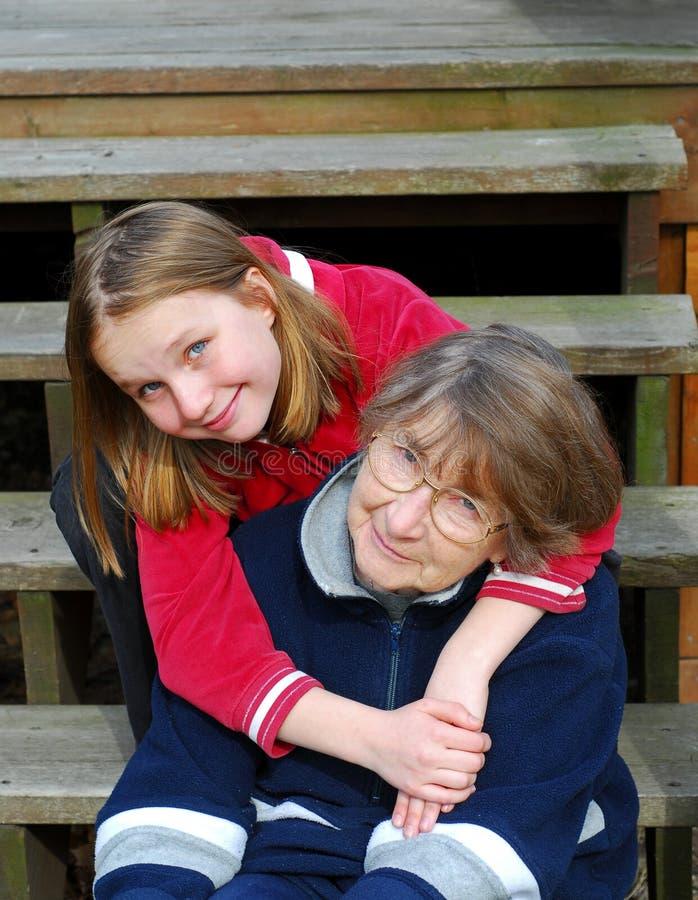 Duas gerações fotografia de stock