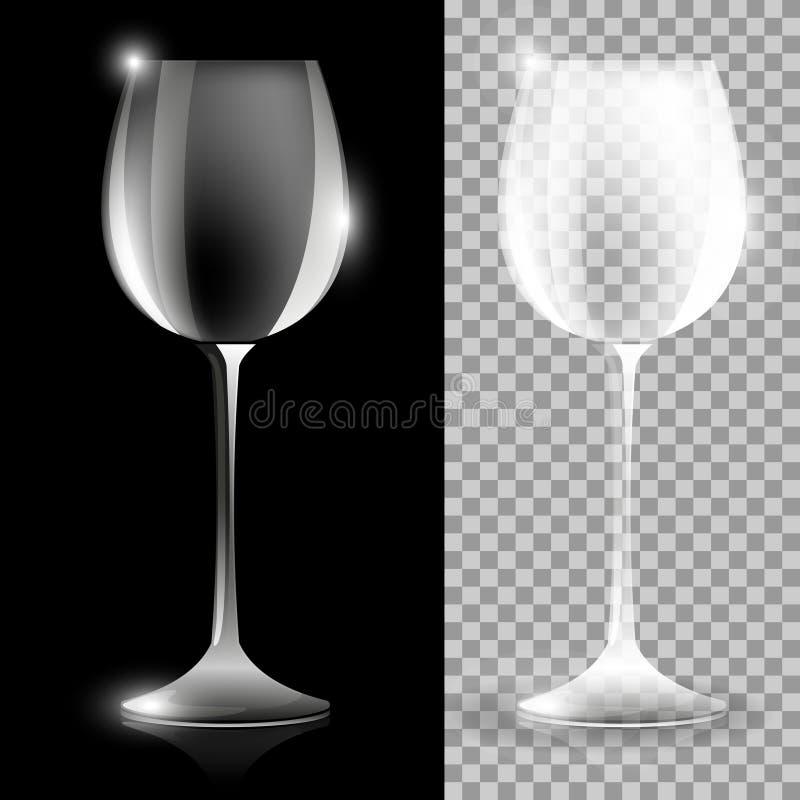 Duas ilustrações do vidro de vinho ilustração royalty free