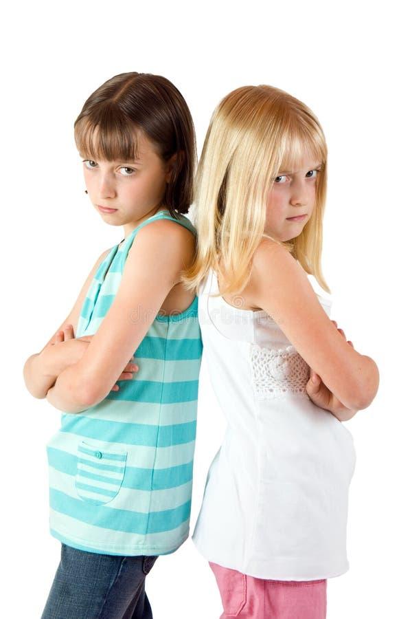 Duas irmãs irritadas imagem de stock