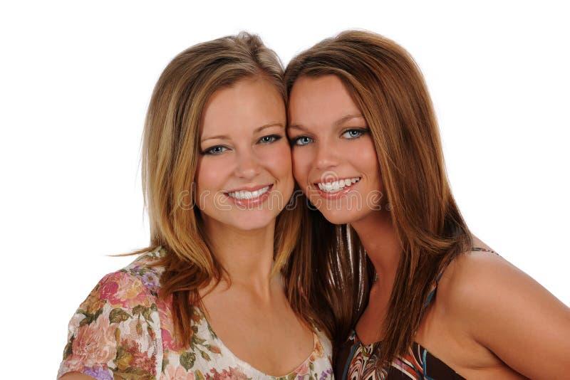 Duas irmãs novas imagens de stock royalty free