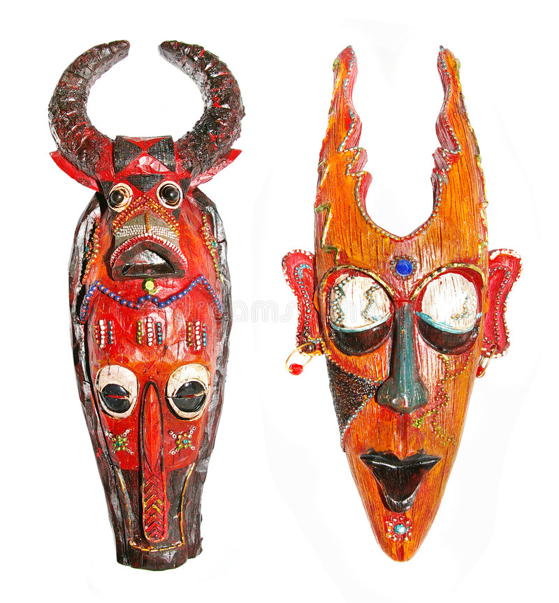 Duas máscaras fotos de stock royalty free