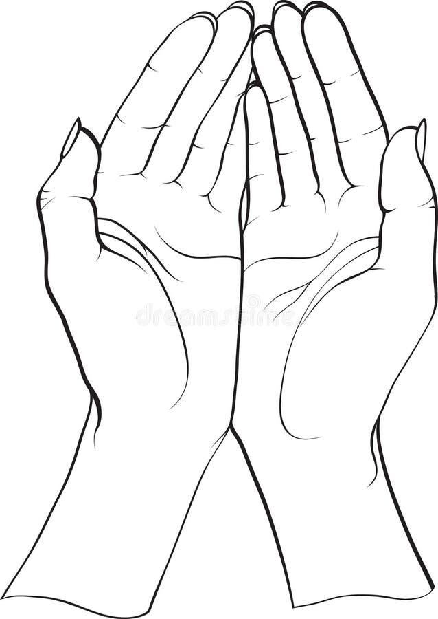 Duas mãos ilustração royalty free