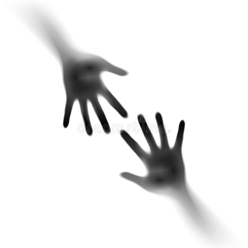 Duas Mãos Abertas Foto de Stock Royalty Free