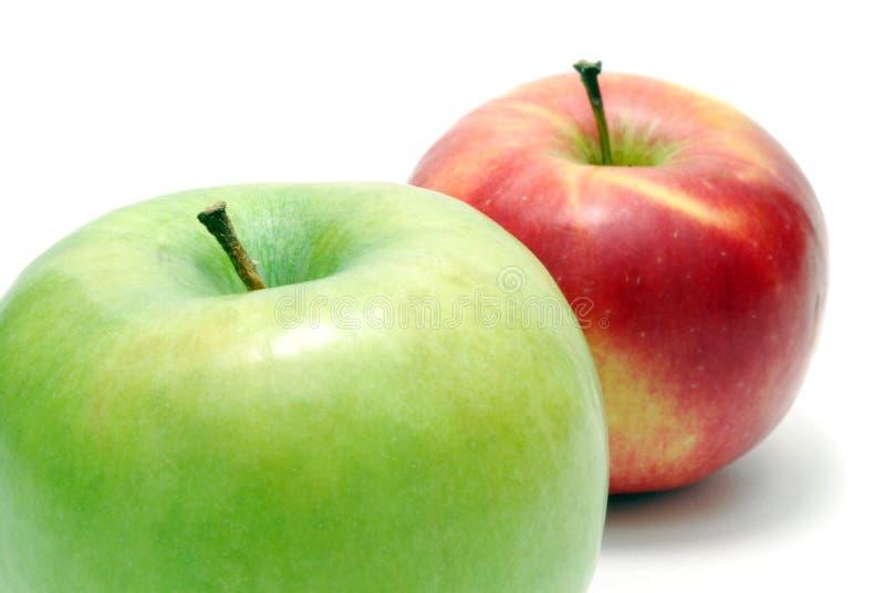 Download Duas maçãs foto de stock. Imagem de maduro, naughty, haste - 10062274