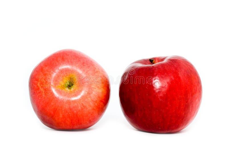 Download Duas maçãs vermelhas imagem de stock. Imagem de único - 12800321