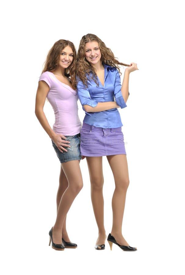 Download Duas meninas imagem de stock. Imagem de felicidade, cute - 23140827
