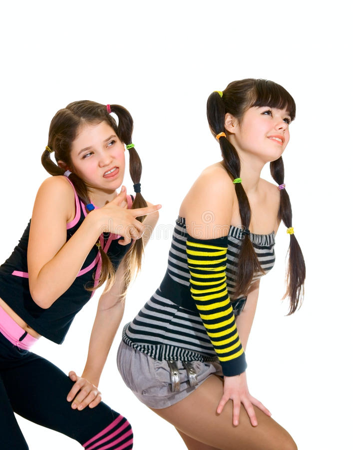 Duas meninas adolescentes do divertimento imagem de stock royalty free