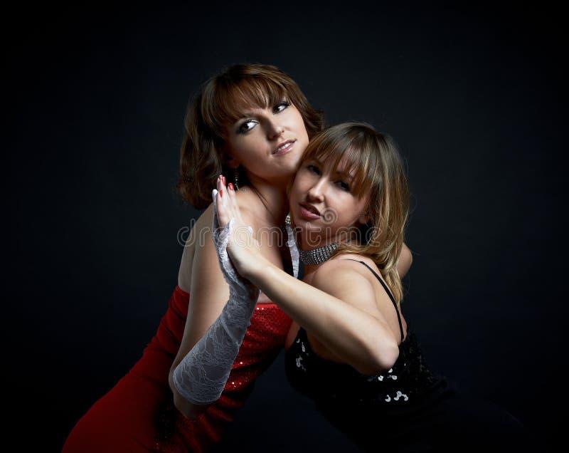 Duas meninas charming imagens de stock royalty free
