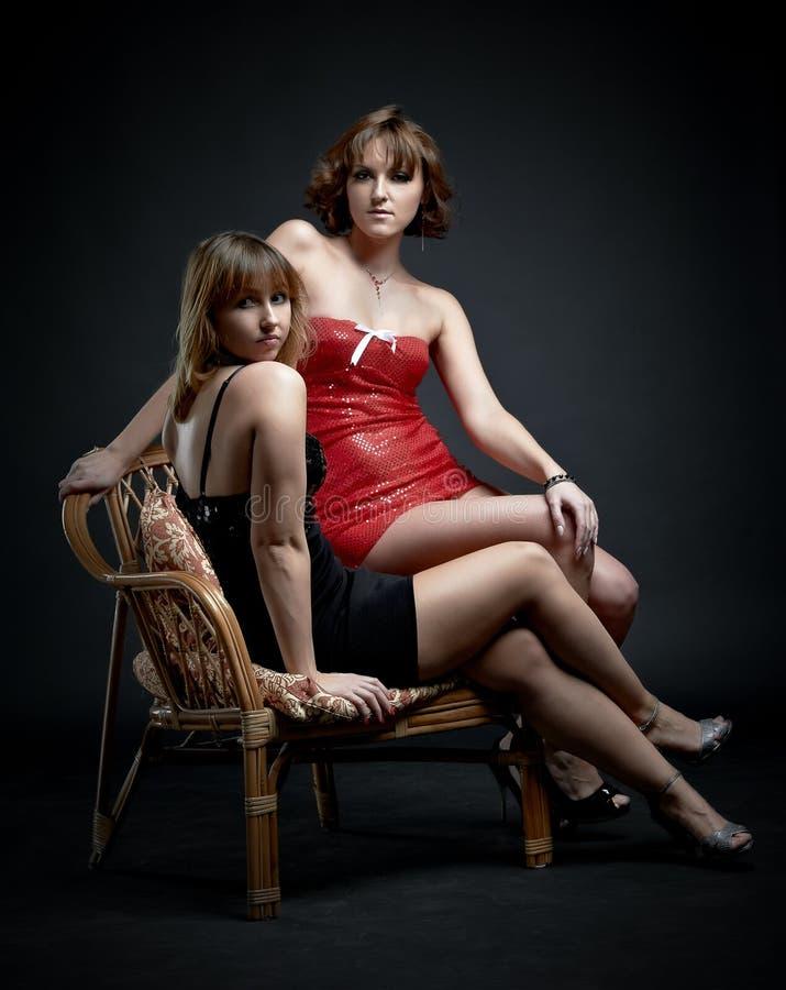 Duas meninas charming foto de stock