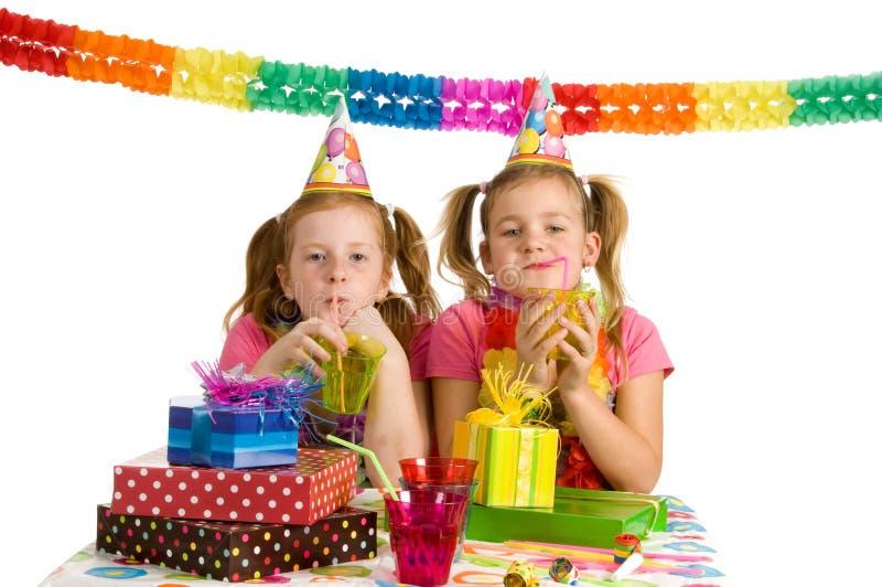 Download Duas meninas em um partido imagem de stock. Imagem de alegria - 10059049