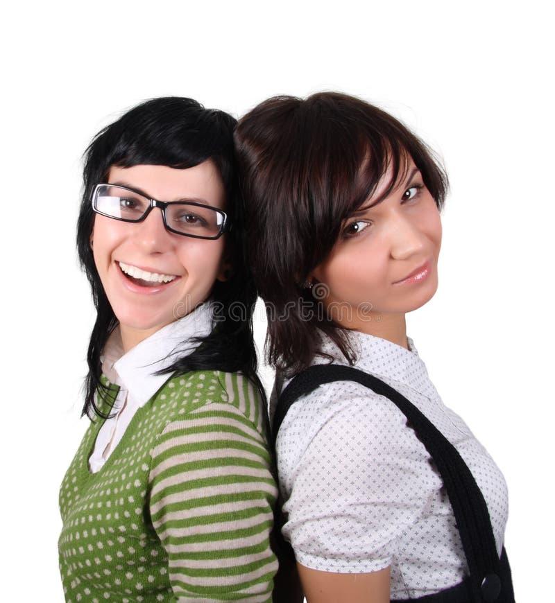 Duas meninas engraçadas fotos de stock