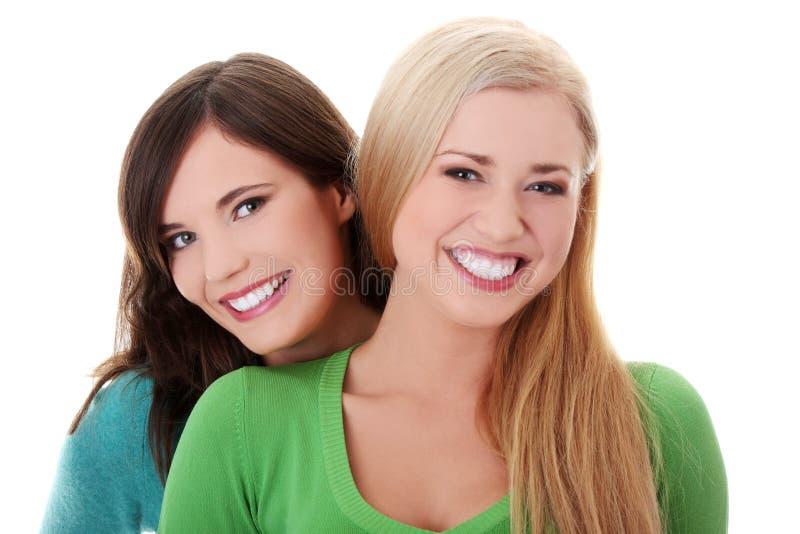 Duas Meninas Felizes Imagem de Stock Royalty Free