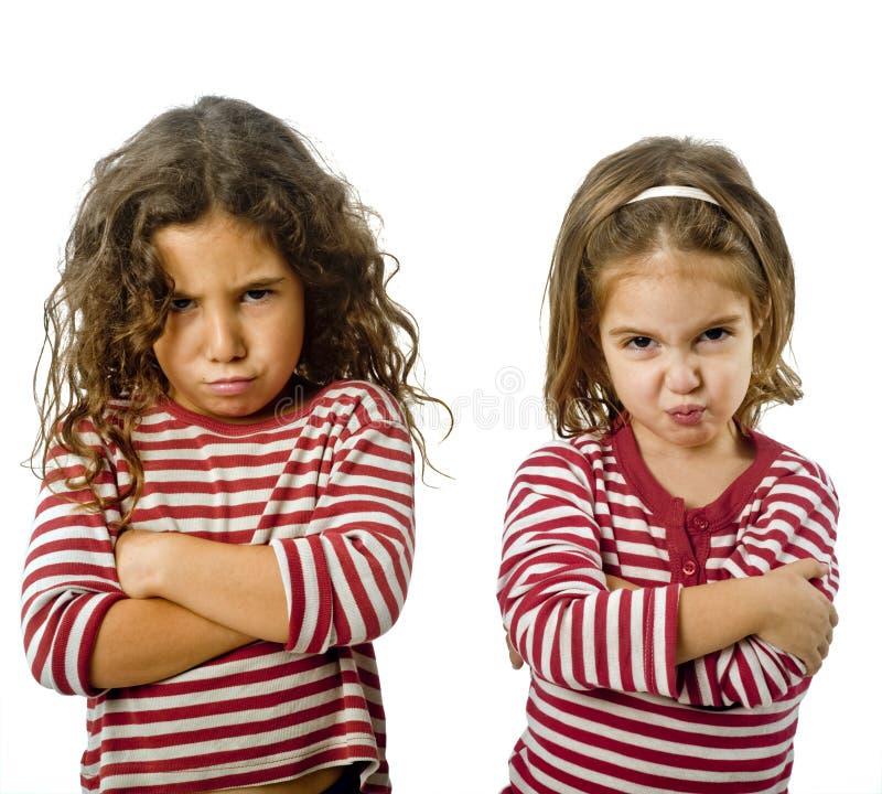 Duas meninas na discussão imagem de stock