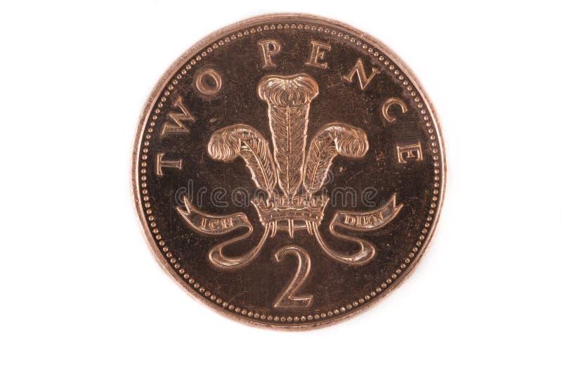 Duas moedas de um centavo imagem de stock