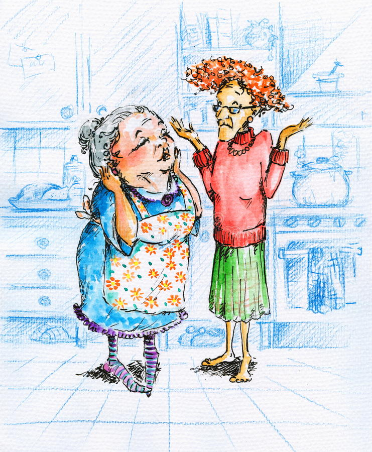 Duas mulheres ilustração do vetor