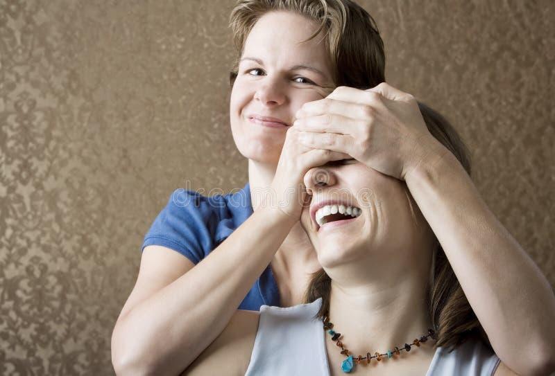 Duas mulheres fotos de stock