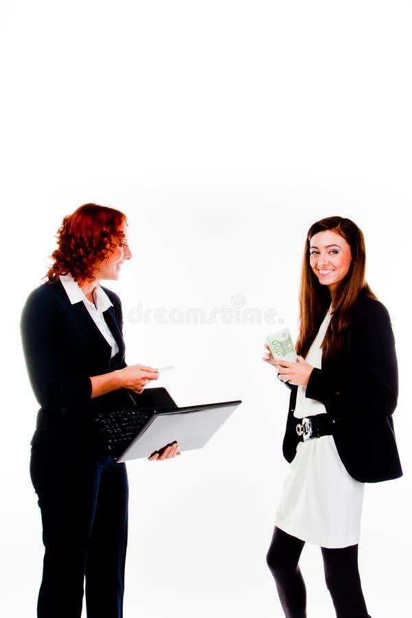 Duas mulheres de negócio imagem de stock