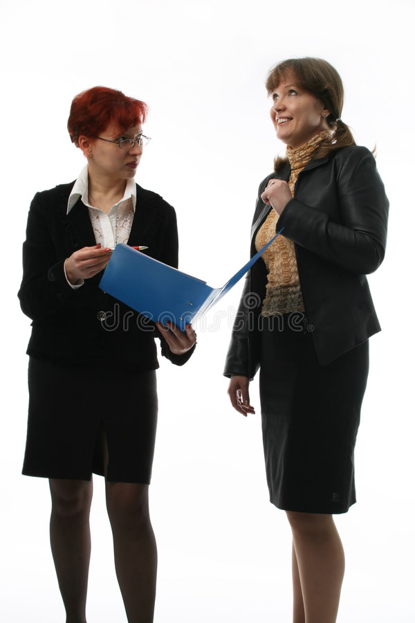 Duas mulheres de negócios fotografia de stock royalty free