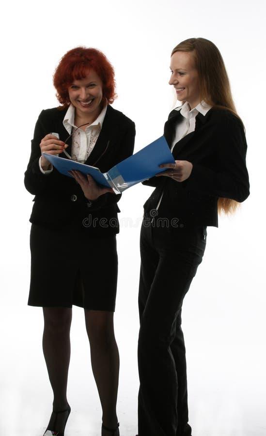 Duas mulheres de negócios fotos de stock