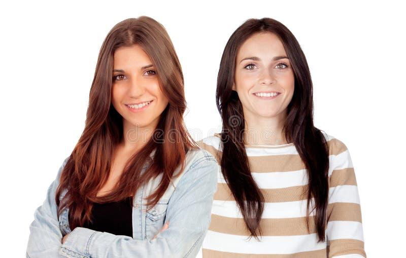 Duas mulheres novas imagens de stock royalty free