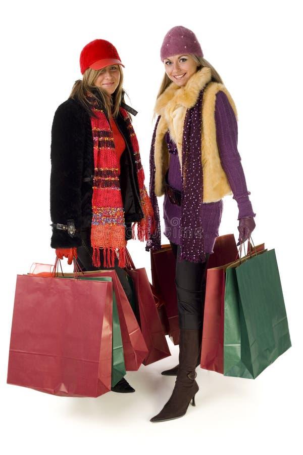 Duas mulheres novas da compra imagem de stock royalty free