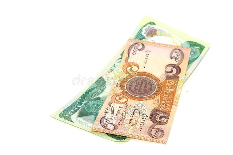 Duas notas de banco iraquianas imagem de stock royalty free