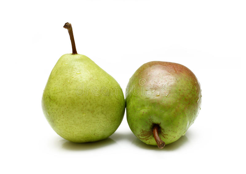 Duas peras verdes foto de stock