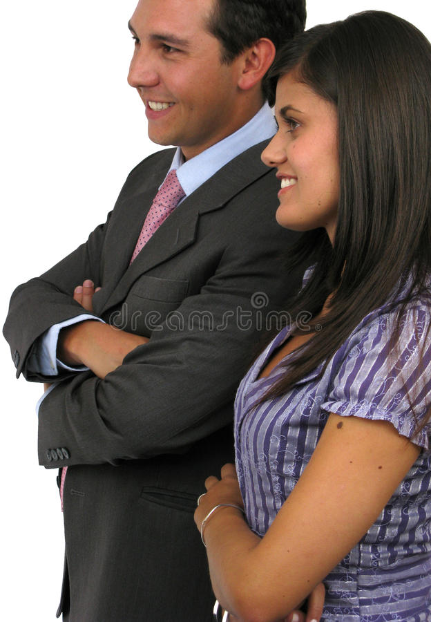 Duas pessoas do negócio fotografia de stock