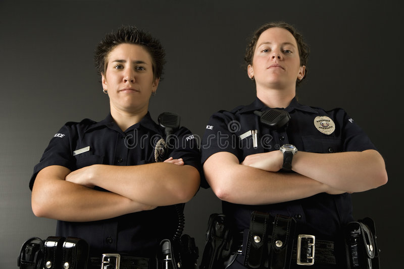 Duas policiais. fotos de stock royalty free