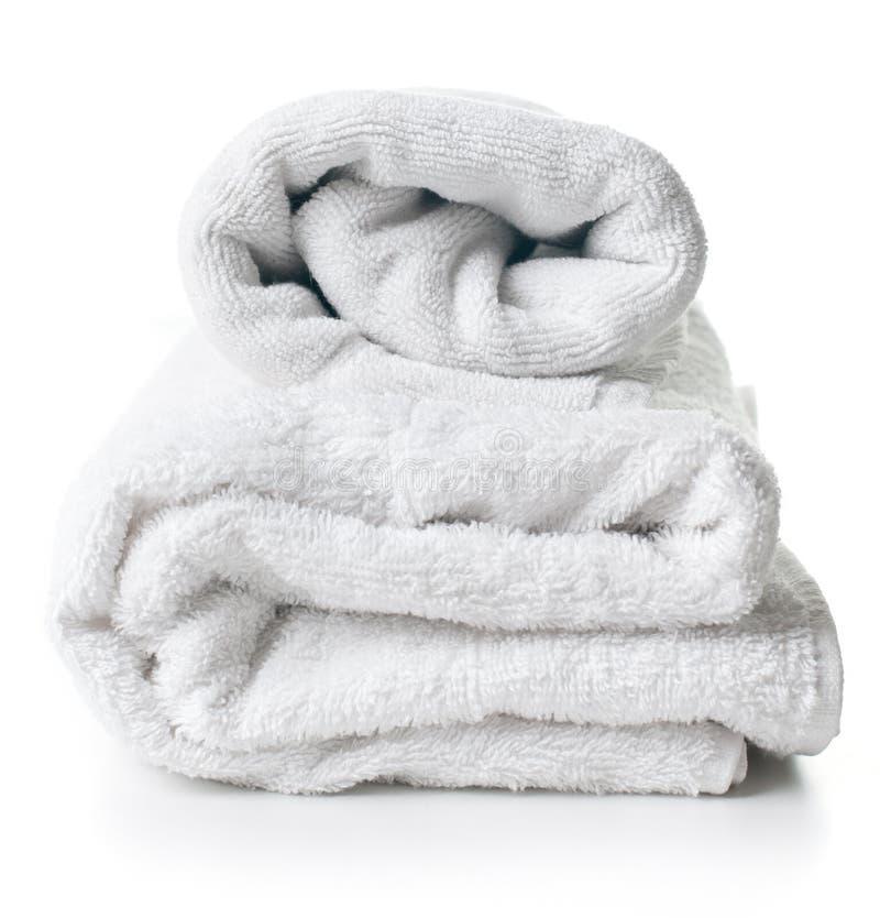 Duas toalhas de terry brancas fotografia de stock royalty free