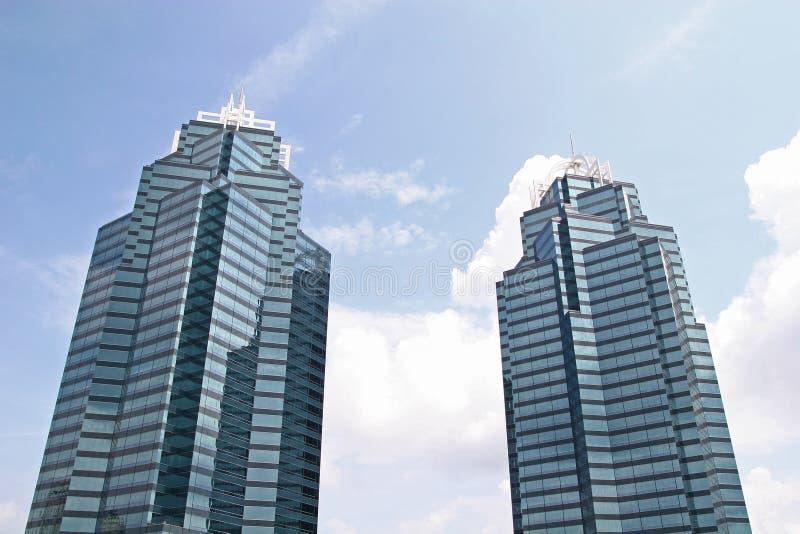 Duas torres azuis foto de stock royalty free